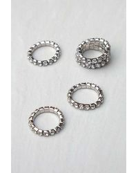 Urban Outfitters Pave Band Ring - Metallic