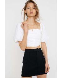 Urban Outfitters Uo Cam Ponte Utility Pocket Mini Skirt - Multicolour