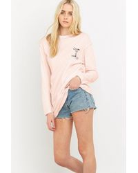 BDG - Escape The Ordinary Long-sleeve Pink T-shirt - Lyst