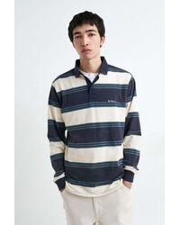 iets frans... Stripe Rugby Shirt - Blue