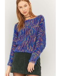 Ecote - Multi-coloured Fluffy Blue Jumper - Lyst