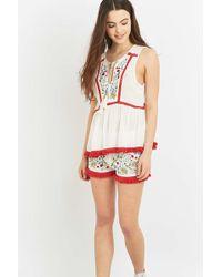 Somedays Lovin - Leonie Embroidered Floral Shorts - Lyst