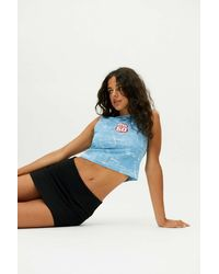Miss Sixty Uo Exclusive Cropped Tank Top - Blue