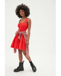 Urban Outfitters Uo Heather Tiered Ruffle Mini Dress