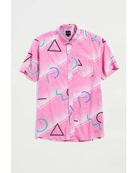 Pleasant Upcycled Abstract Print Shirt - Pink