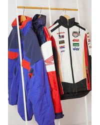 Urban Renewal Vintage Racing Jacket - Red
