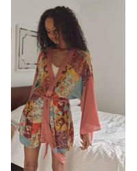 Urban Outfitters Willow Patchwork Robe - Pink