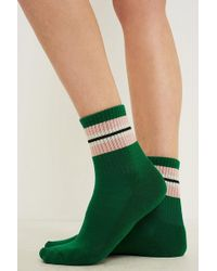 Out From Under - Colour Block Striped Crew Socks - Lyst