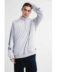 adidas White Velour Track Top