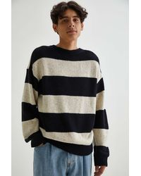 Urban Outfitters Uo Bar Stripe Knit Sweater - Black