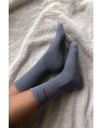 iets frans Grey Sports Crew Socks