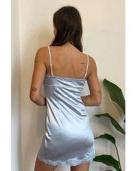 Urban Outfitters Uo Sasha Satin Blue Mini Dress