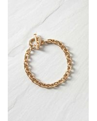 Urban Outfitters Heart Toggle Bracelet - Metallic
