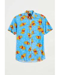 Pleasant Upcycled Cartoon Print Shirt - Blue