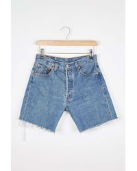 Urban Renewal Remade From Vintage Mom Jeans Shorts - Blue