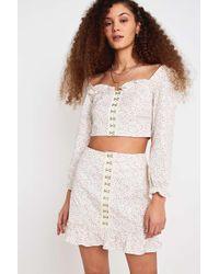 b59411b5fc Urban Outfitters - Uo Love Struck Floral Hook + Eye Mini Skirt - Womens S -