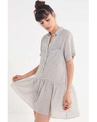 Urban Outfitters - Uo Waring Drop-waist Shirt Dress - Lyst
