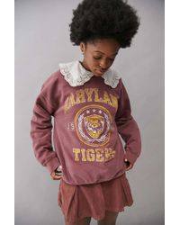 Urban Outfitters Uo Maryland Tigers Crew Neck Sweatshirt - Multicolor