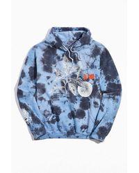 Urban Outfitters Floating Tie-dye Hoodie Sweatshirt - Blue