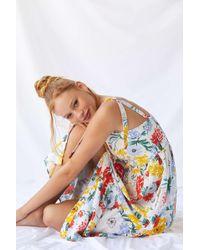Urban Outfitters Uo Positano Linen Tie-shoulder Midi Dress - Womens Xs - Multicolour