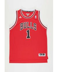 Urban Renewal One-of-a-kind Chicago Bulls Basketball Vest - Red