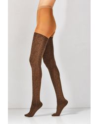 Out From Under - Leopard Tights - Lyst