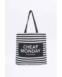 Cheap Monday - Squared Black Tote Bag - Lyst