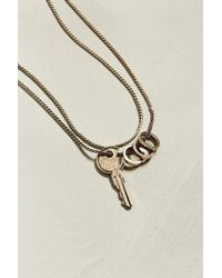 Urban Outfitters - Uo Golden Key Necklace - Lyst
