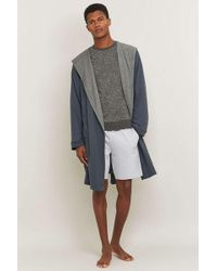 Bread & Boxers - Navy Hooded Thermal Robe - Lyst