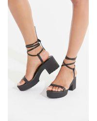 2b77d03e25ed Urban Outfitters Yru Qloud Clear Platform Sandal in Black - Lyst