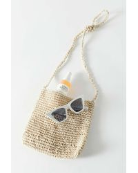 Urban Outfitters Lenni Straw Crossbody Bag - Natural