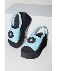 Urban Outfitters Uo Zoe Eva Platform Sandal - Blue
