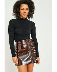 Urban Outfitters - Urban Outfitters Ribbed Funnel Neck Jumper - Lyst