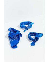 Urban Renewal Vintage Washed Bandana - Blue