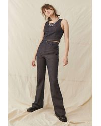 Urban Outfitters Archive Pinstripe Flare Trousers - Blue