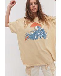 Project Social T Wave T-shirt Dress - Blue