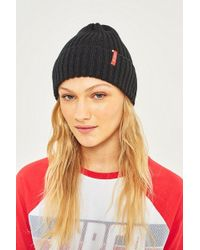 Reason - Side Tab Pink Beanie - Lyst