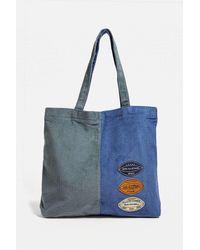 BDG Blue & Grey Badged Tote Bag