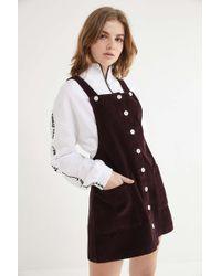 BDG - Corduroy Button-front Mini Dress - Lyst