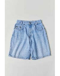 Urban Outfitters Vintage Longline Denim Short - Blue
