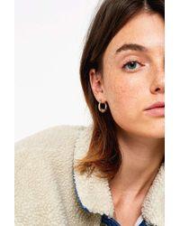Urban Outfitters - Mini Textured Hoop Earrings - Lyst