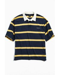 iets frans... Striped Short Sleeve Rugby Tee - Blue
