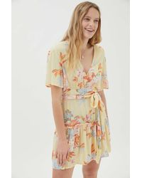 Billabong One And Only Floral Ruffle Mini Dress - Pink