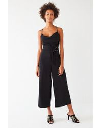 Urban Outfitters | Uo Cowl Neck O-ring Belt Jumpsuit | Lyst