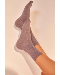 Out From Under - Cosy Flat Knit Crew Socks - Womens All - Lyst