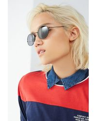 Urban Outfitters - Dionne Slim Metal Oval Sunglasses - Lyst