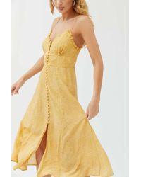 Auguste Teardrop Midi Dress - Yellow