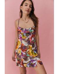 Urban Outfitters - Uo Lumi Floral Print Mini Dress - Lyst