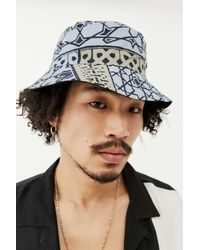 Obey Bandana Reversible Bucket Hat - Blue
