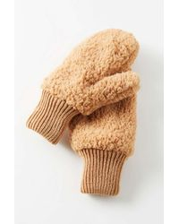 Urban Outfitters Uo Teddy Mitten - Multicolor